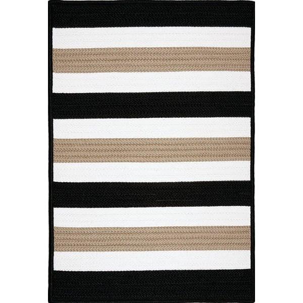 Sharp Black (PO-49) Striped Area Rug