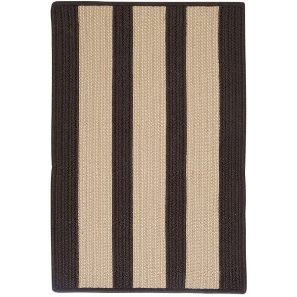 Brown (BT-89) Striped Area Rug