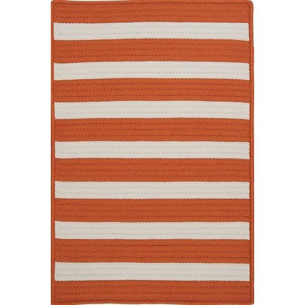 Tangerine (TR-19) Striped Area Rug