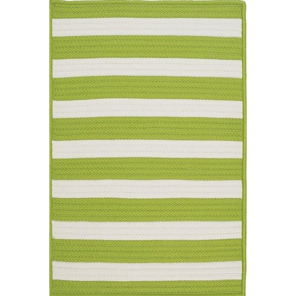 Bright Lime (TR-29) Striped Area Rug