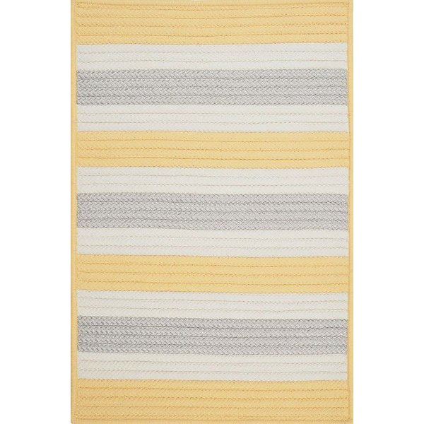 Yellow Shimmer (TR-39) Striped Area Rug