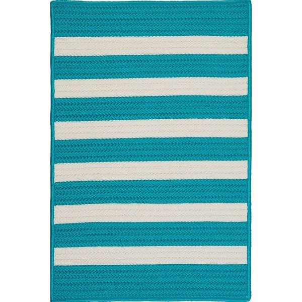 Turquoise (TR-49) Striped Area Rug