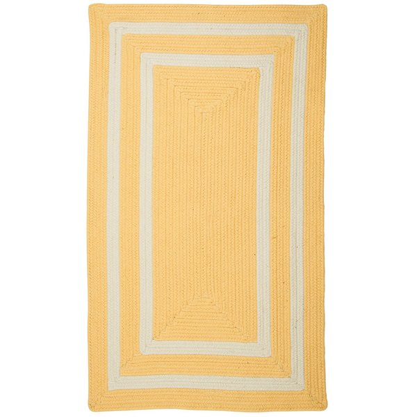 Sun Yellow, White (PY-31) Country Area Rug
