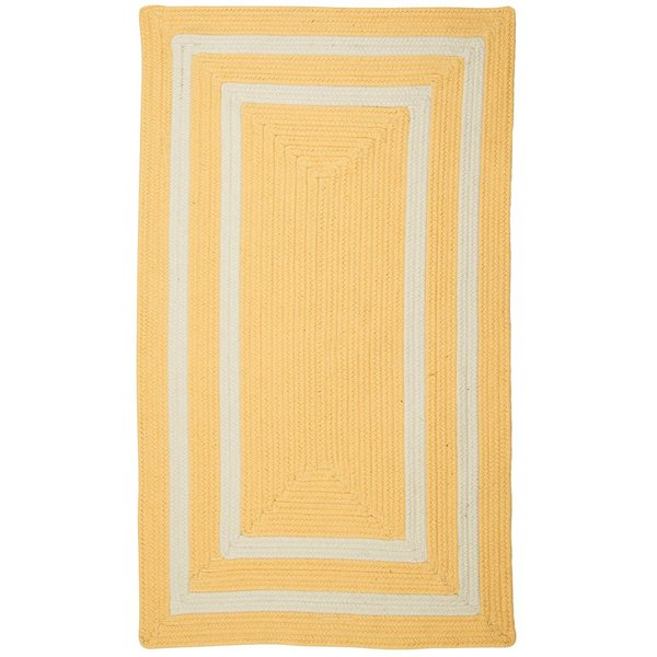 Sun Yellow, White (PY-31) Country Area-Rugs