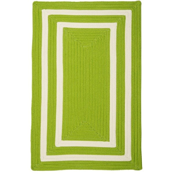 Lime, White (PY-61) Country Area-Rugs