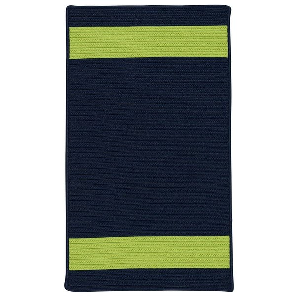 Navy, Green (AR-15) Striped Area Rug