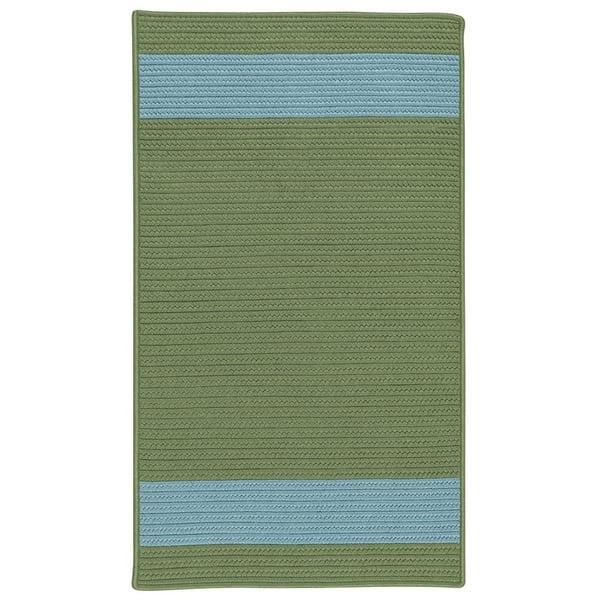 Moss, Blue (AR-25) Striped Area Rug