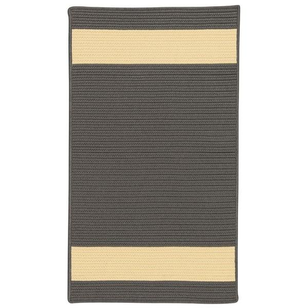 Grey, Yellow (AR-45) Striped Area Rug