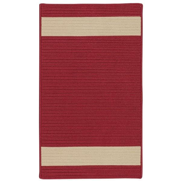 Red, Sand (RU-55) Striped Area Rug