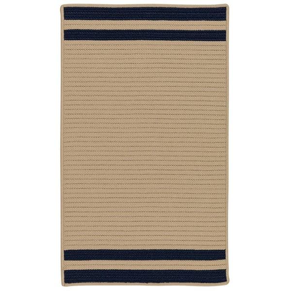 Navy (DE-75) Striped Area Rug