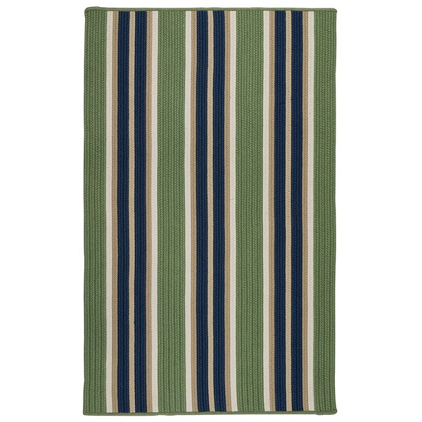 Harbor Green (MS-35) Striped Area Rug