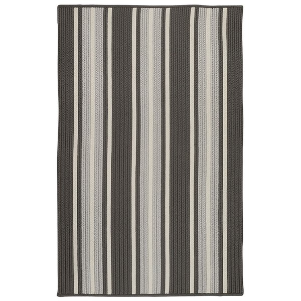 Stone Grey Striped Area Rug