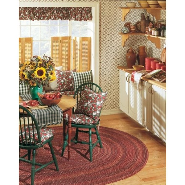 Burnt Brick (MN-87) Country Area-Rugs
