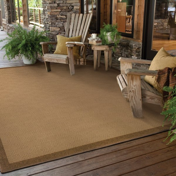Beige, Brown (525D7) Country Area Rug