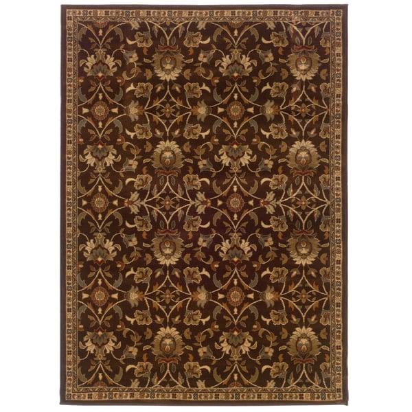 Brown, Beige (2331K) Traditional / Oriental Area Rug