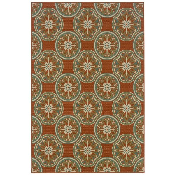 Copper, Ivory (8323D) Contemporary / Modern Area Rug