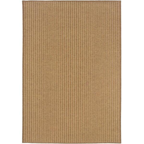 Tan Striped Area Rug