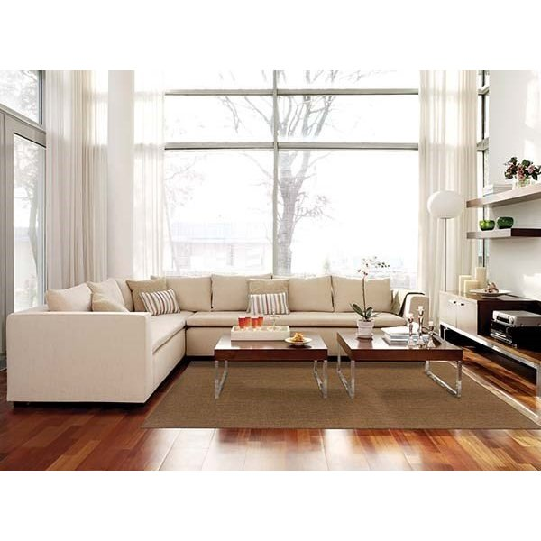 Tan Solid Area Rug