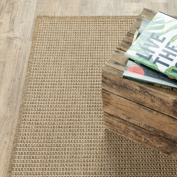 Sand Solid Area Rug