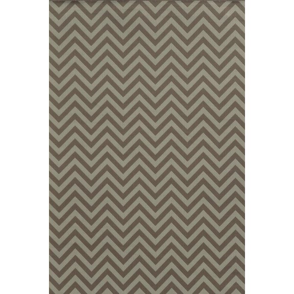 Grey, Blue (E) Contemporary / Modern Area Rug