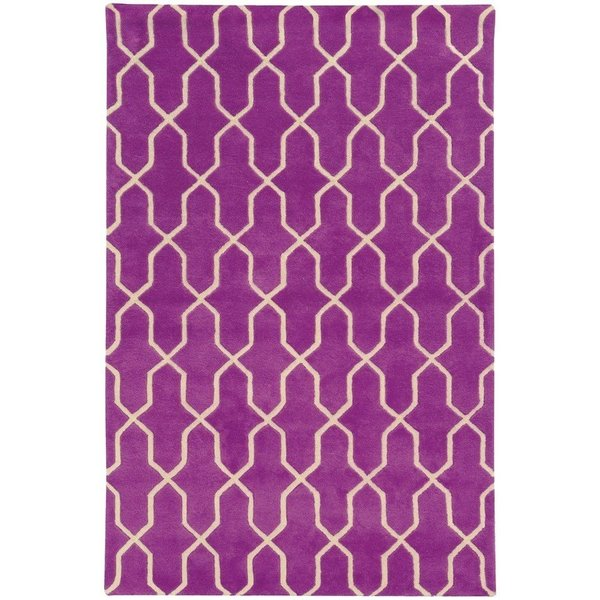 Purple, Ivory Moroccan Area-Rugs