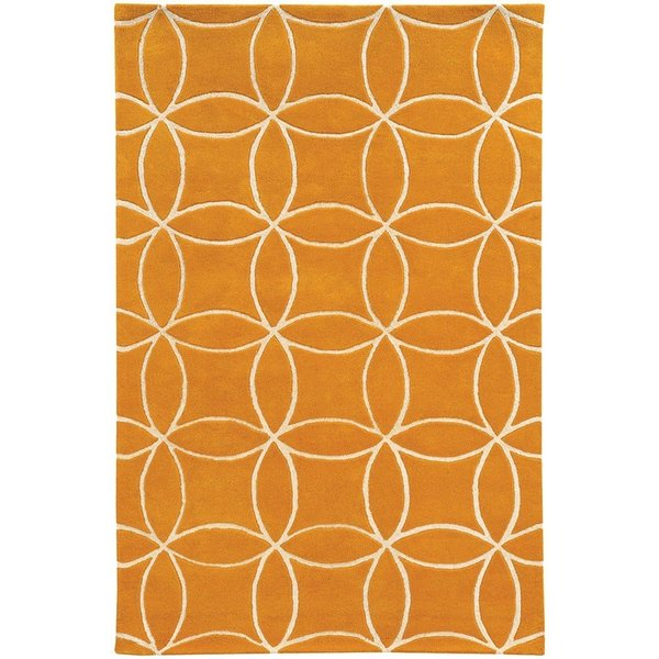Yellow, Ivory Contemporary / Modern Area Rug
