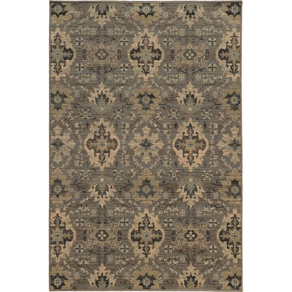 Blue, Ivory Traditional / Oriental Area Rug