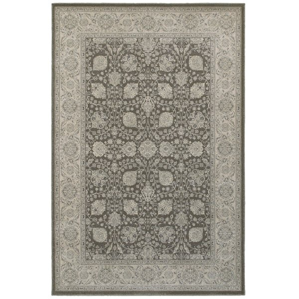 Brown, Ivory Traditional / Oriental Area Rug