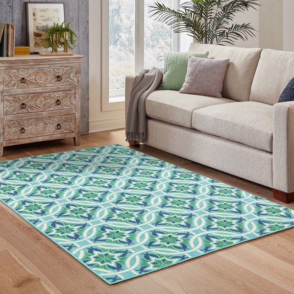 Navy, Blue  Contemporary / Modern Area-Rugs