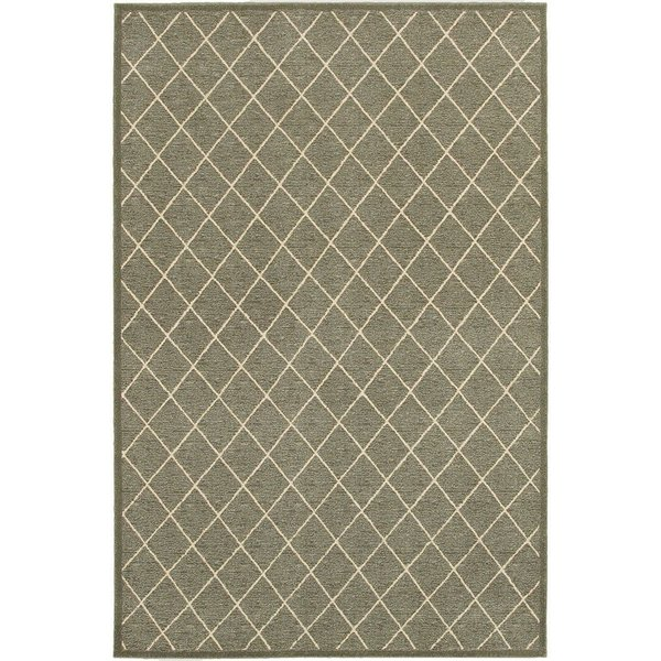 Grey, Ivory (90E) Contemporary / Modern Area Rug