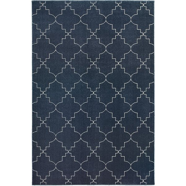 Navy, Ivory (5994B) Moroccan Area Rug
