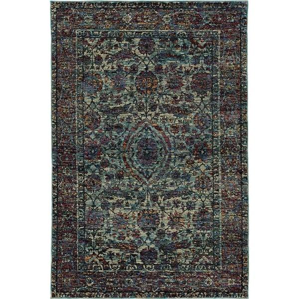 Blue, Purple Traditional / Oriental Area-Rugs
