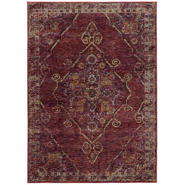 Red, Gold (E) Traditional / Oriental Area-Rugs