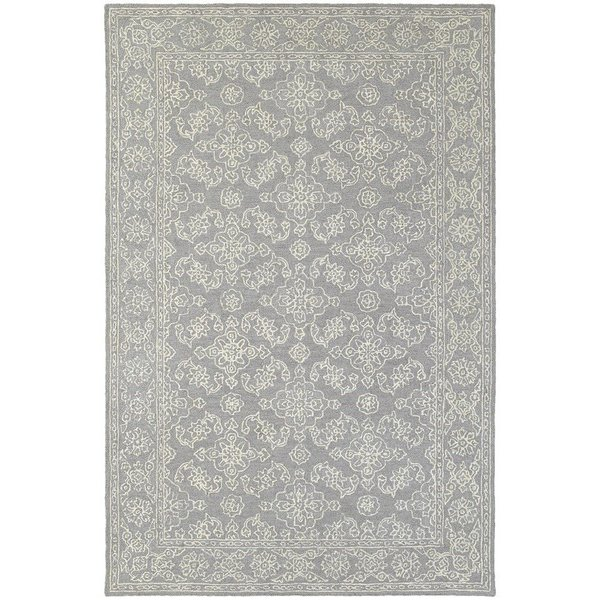 Grey, Stone Traditional / Oriental Area-Rugs