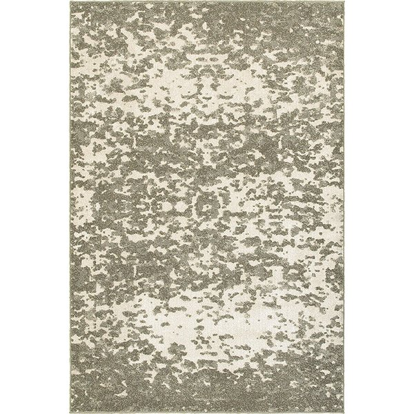 Ivory, Grey Abstract Area Rug
