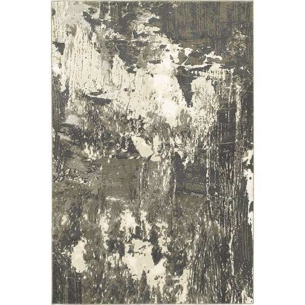 Grey, Ivory Abstract Area Rug