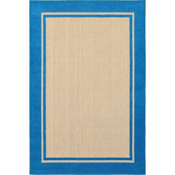 Sand, Blue (B) Contemporary / Modern Area Rug