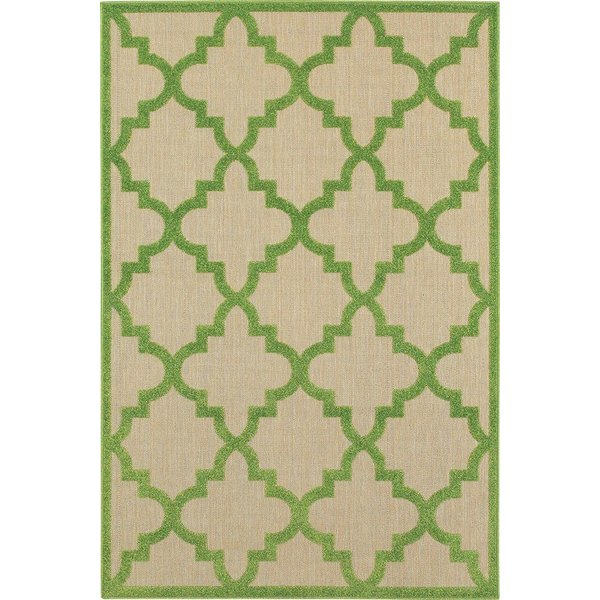 Sand, Green (F9) Contemporary / Modern Area-Rugs