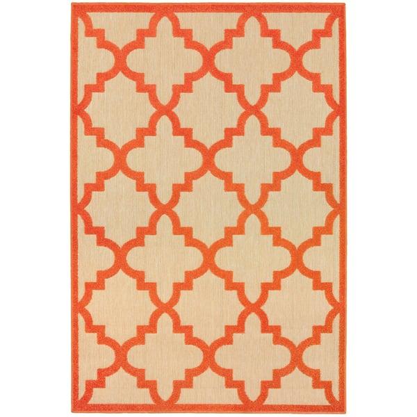 Sand, Orange (O9) Contemporary / Modern Area-Rugs