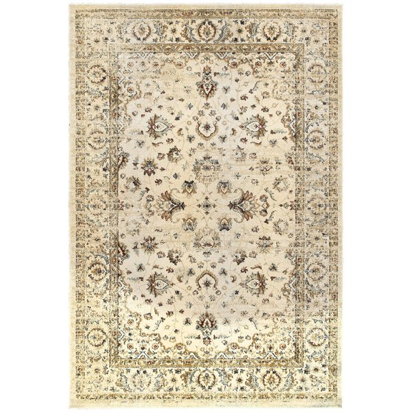 Ivory, Gold (W) Traditional / Oriental Area Rug