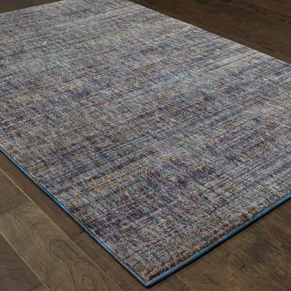 Purple, Grey (F) Contemporary / Modern Area Rug
