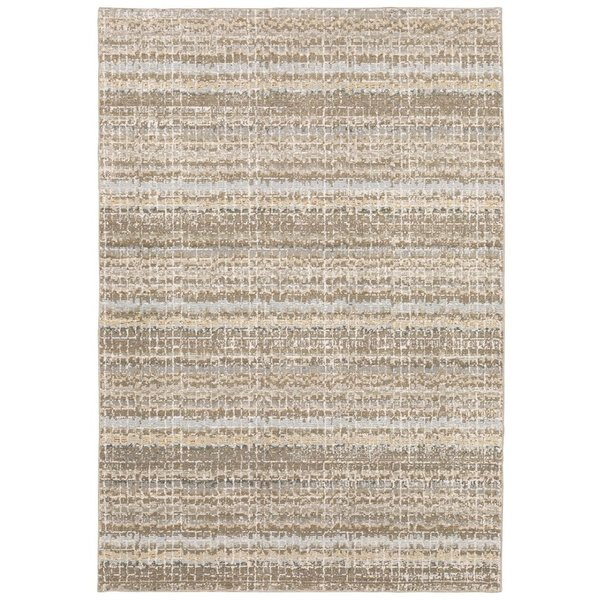 Ivory (E) Contemporary / Modern Area Rug