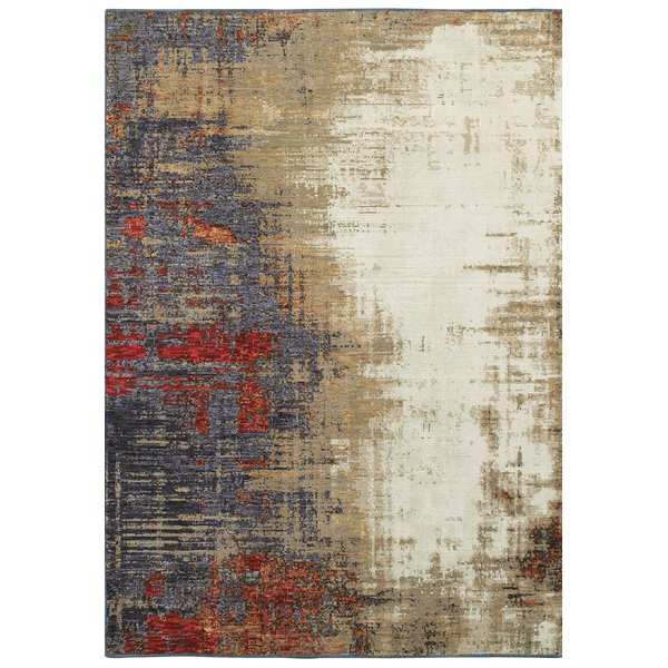 Ivory (A) Abstract Area Rug