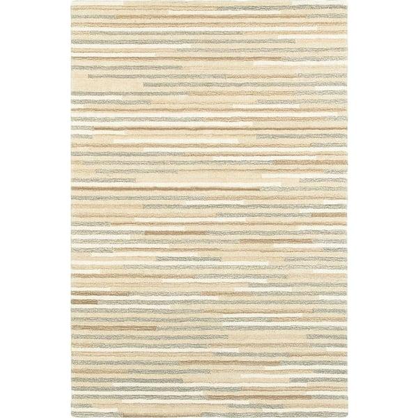 Beige, Grey (67007) Striped Area-Rugs