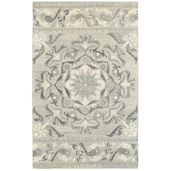 Ash, Ivory Contemporary / Modern Area-Rugs