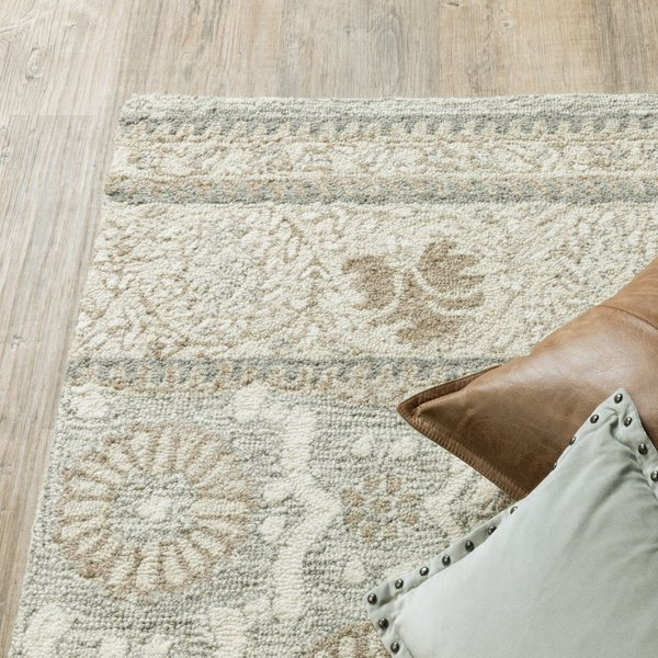 Ash, Sand Contemporary / Modern Area-Rugs