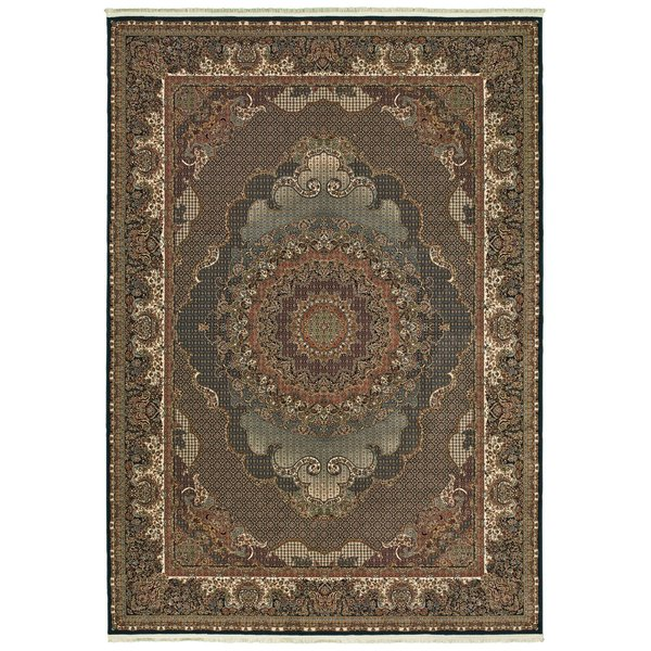 Blue, Red (B) Traditional / Oriental Area-Rugs