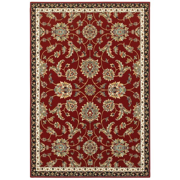 Red (RI) Traditional / Oriental Area Rug