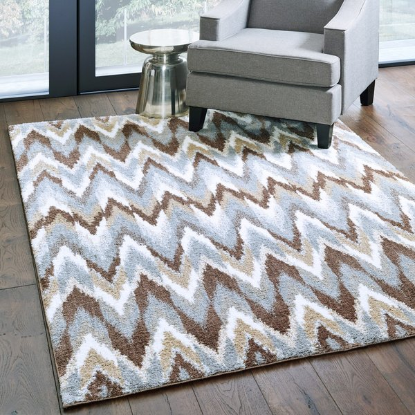 Grey, Taupe Moroccan Area Rug
