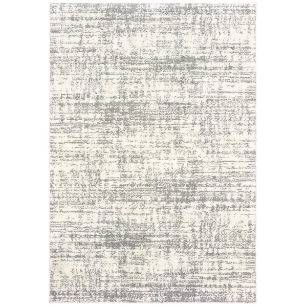 Ivory, Grey (H) Contemporary / Modern Area Rug